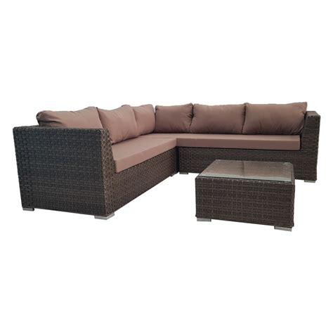 Outdoor Sofa Rattan by Brown Outdoor Wicker Rattan Sofa Corner Lounge Set