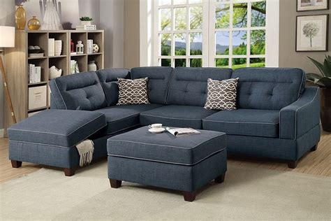 hton leather reversible sectional and storage ottoman sectional sofa with ottoman blue fabric reversible chaise
