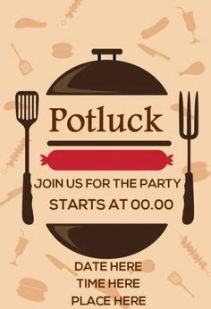printable potluck invitations potluck invitation