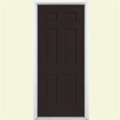 steel entry door home depot masonite 36 in x 80 in 6 panel painted steel prehung