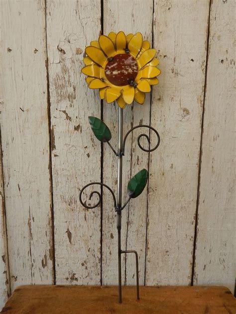 Rustic Industrial Metal Sunflower Vintage Style
