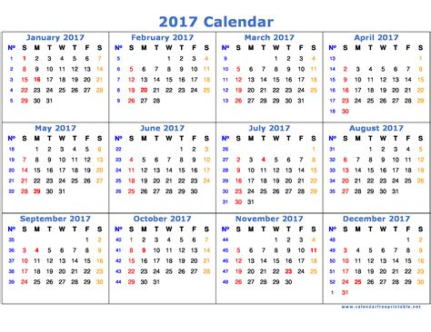 Calendar Template 2017 2017 Calendar Printable With Holidays Calendar Free