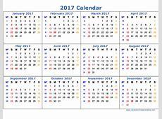 Word Calendar Template 2017 cyberuse