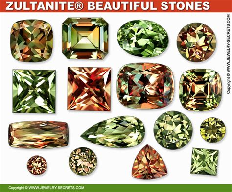 color changing gemstones color changing zultanite gemstones jewelry secrets