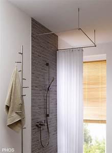 Duschvorhang Befestigung über Eck : duschvorhangstange aus edelstahl cns f r badewanne dusche ~ A.2002-acura-tl-radio.info Haus und Dekorationen