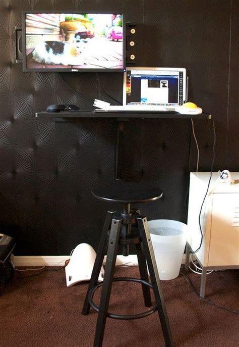 wall mounted desk ikea hack 10 ikea standing desk hacks with ergonomic appeal