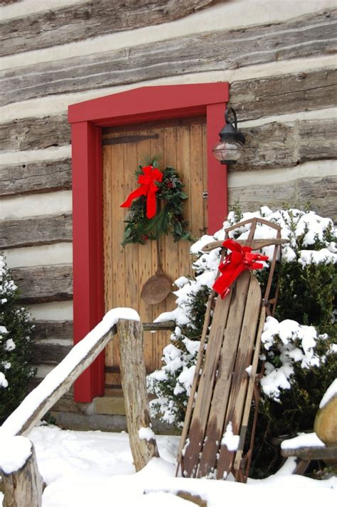 christmas porch  front door decorating ideas adorable