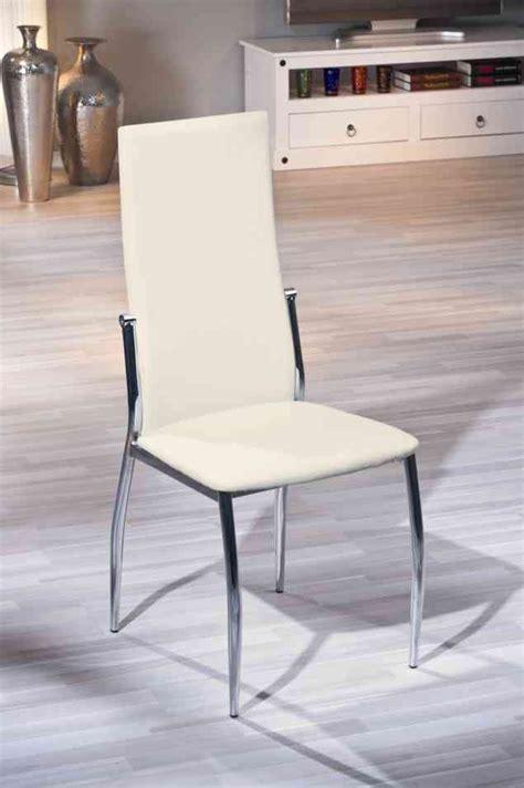 chaise salle à manger design chaise de salle à manger design coloris écru dallas