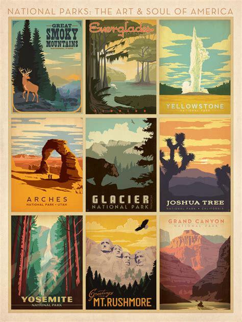 art  soul  america national parks art print multi