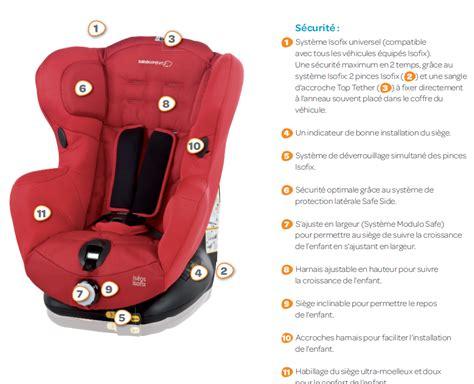 installer un siege auto bebe confort bebe confort siège auto iséos isofix gr 1 achat vente