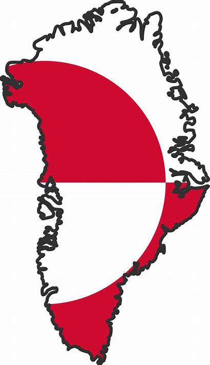 Greenland Flag Map Clip Flags Clipart Coloring