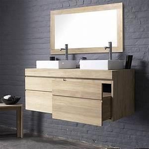 Meuble Tiroir Salle De Bain : meuble de salle de bain urban deux tiroirs ~ Teatrodelosmanantiales.com Idées de Décoration