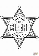 Coloring Badge Sheriff Printable Drawing Sponsored Links sketch template