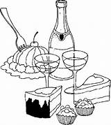 Dessert Desserts Coloring Pages sketch template