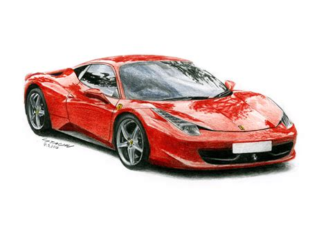 ferrari drawing ferrari 458 italia by sth pl on deviantart