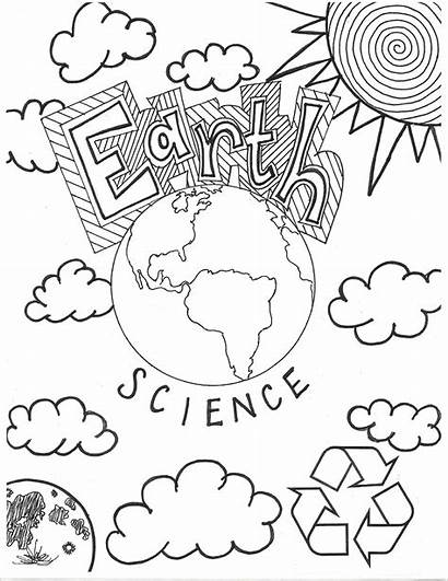 Science Earth Coloring Notebook Space Covers Middle
