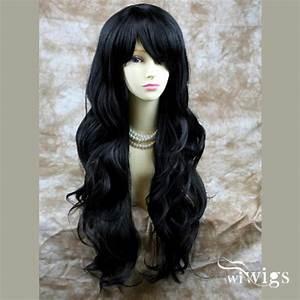 Wiwigs - Sexy Beautiful Long Layered wavy wig Jet Black ...