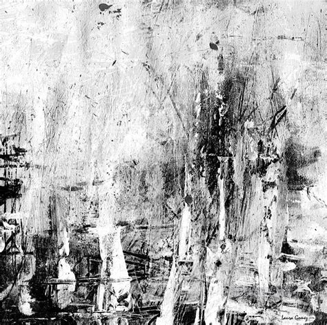 Black And White Canvas Painting Abstract by Black And White Abstract 3 Textured Painting In For Sale