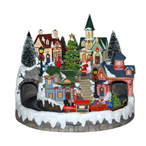 led lights for christmas village houses animated light up christmas village scene houses with