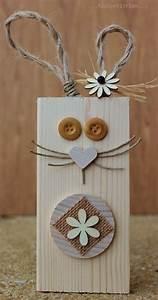 Lapin nature avec une chute de bois wwwpinterestcom for Idee deco cuisine avec pinterest deco paques
