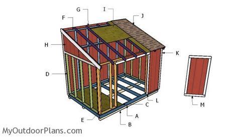 Shed Plans 8x12 Lean To by 8x12 Lean To Shed Plans Myoutdoorplans Free