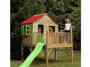 Cabane En Bois Pour Enfant : cabane en bois jardin ~ Dailycaller-alerts.com Idées de Décoration