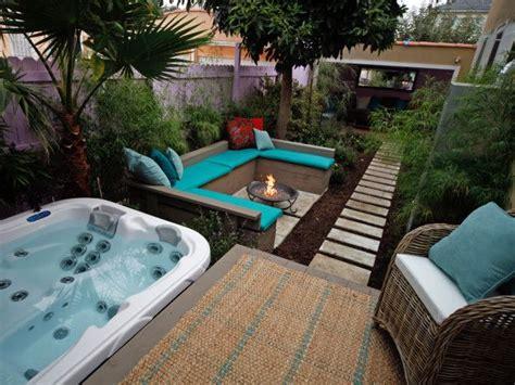 hot tub deck fire pit  lush patio home pinterest