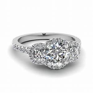 trinity halo ring fascinating diamonds With halo wedding rings