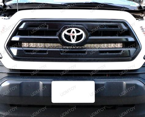 2016 up toyota tacoma grille 180w led light bar kit