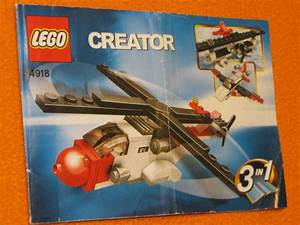 Lego Set 4918 Instructions Only Helicopter Airplane
