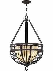 Ava bowl pendant chandelier in vintage bronze living