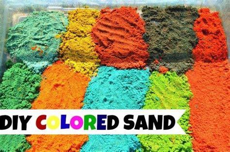 sensory activities    colored sand