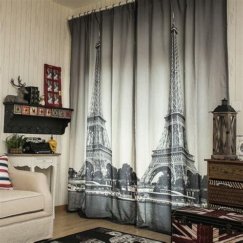 linen cheap curtain fabrics paris eiffel tower blinds