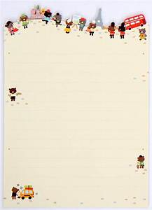 cute letter set traditionally dressed animals letter sets With kawaii stationery letter set