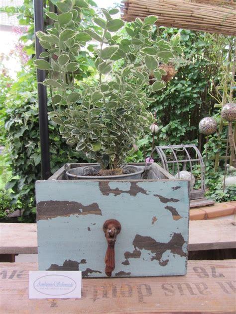 deko garten vintage holz pflanz schublade zum bepflanzen t 252 rkis deko garten