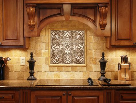 kitchen backsplash medallions how kitchen backsplash plaques become the focal 2231