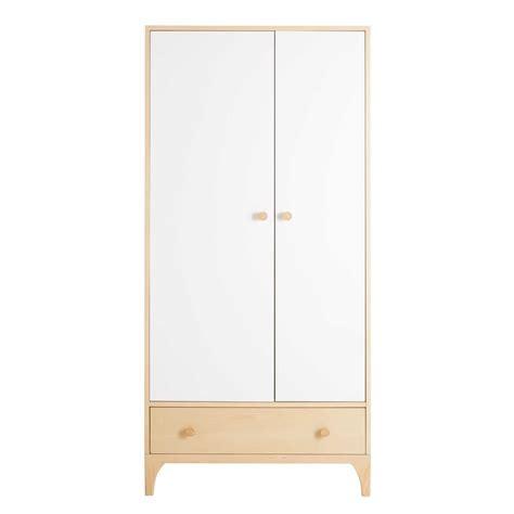 Kleiderschrank Mit Türen by Kleiderschrank Mit 2 T 252 Ren Und 1 Schublade Wei 223 Moonlight