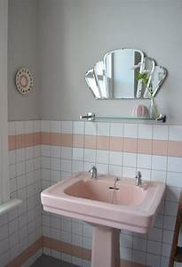 spectacularly pink bathrooms that bring retro style back With miroir salle de bain vintage