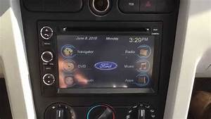 2006 Ford Mustang Factory style windows based radio with navigation and bluetooth - YouTube