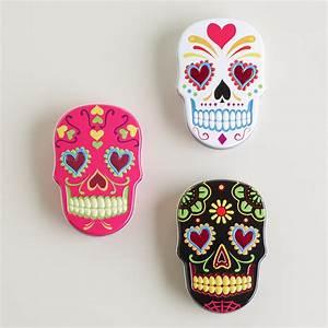 Sugar Skulls Candy Tin, Set of 6 World Market