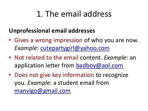 how to write a professional email for students