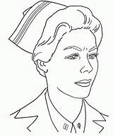 Nurse Drawing Coloring Doctor Realistic Printable Sketch Drawings Pencil Military Popular Coloringhome Paintingvalley sketch template