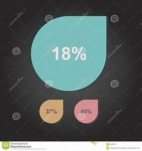 Water Drop Percentage Vector Stock Vector