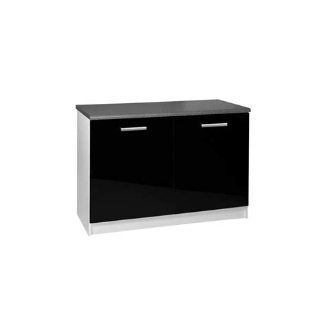 meuble cuisine 120 cm meuble de cuisine bas 2 portes 120 cm tara laqué