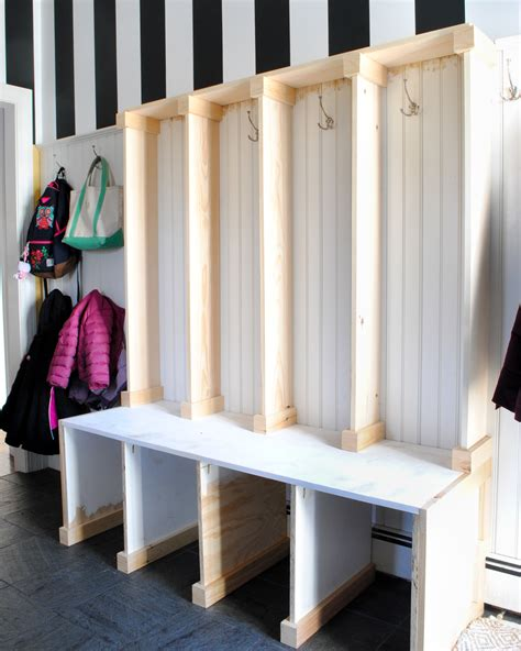 how to build a mudroom bench with cubbies mudroom
