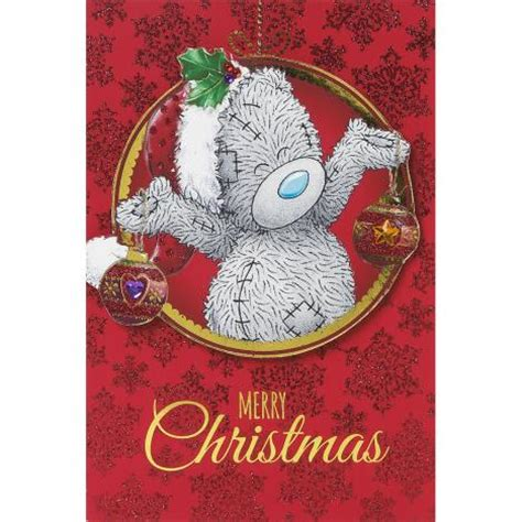 tatty teddy christmas decorations tatty teddy holding decorations me to you card x01mt026 me to you bears