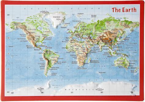 Carte Du Monde 3d by Craenen Georelief