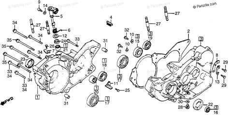 honda motorcycle 1983 oem parts diagram for crankcase partzilla