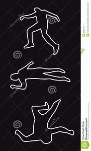 Dead man outline stock illustration. Illustration of fatal ...