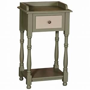 Table De Chevet Bois Massif : table de chevet en bois massif demeure et jardin ~ Teatrodelosmanantiales.com Idées de Décoration